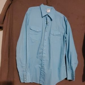 Wrangler pearl snap size large